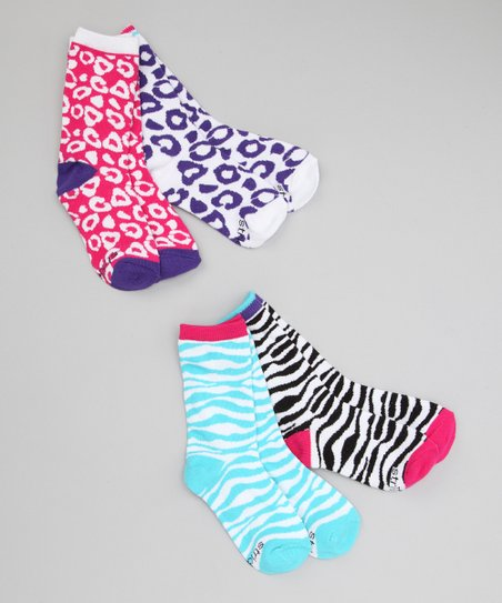 Animal Frenzy Crew Socks Set