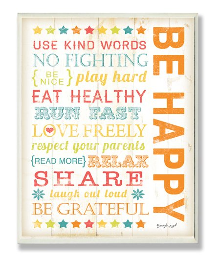 &#039;Be Happy&#039; Wall Art