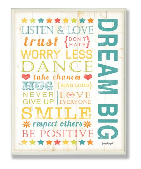 'Dream Big' Kids Wall Art