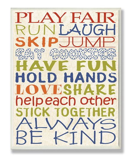 'Play Fair' Wall Art