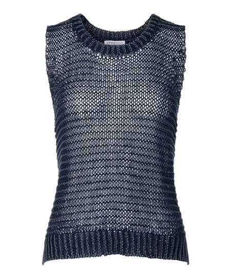 Navy Blue Baxter Sleeveless Sweater
