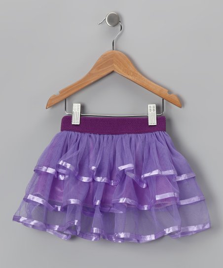 Purple Ribbon-Trim Tutu