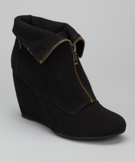 Black Uplift Wedge Bootie