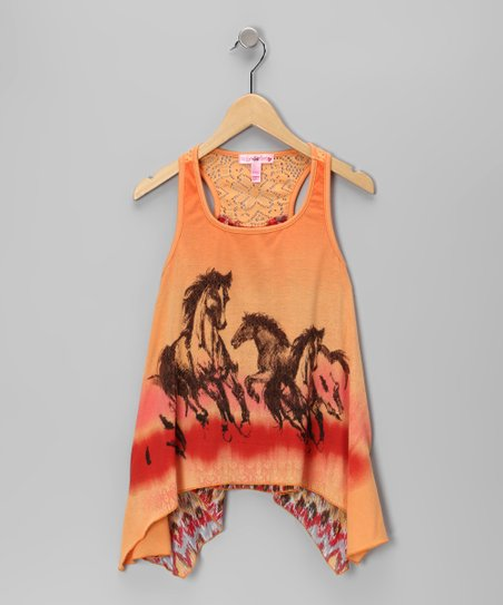 Pumpkin Horse Sidetail Tank