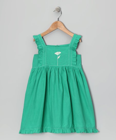 Sugar Green Embroidered Dress - Infant, Toddler & Girls