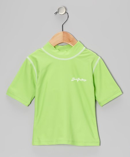 Apple Green Short-Sleeve Rashguard - Infant, Toddler & Boys