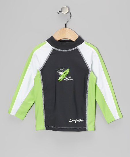 Titanium & Moss Long-Sleeve Rashguard - Boys