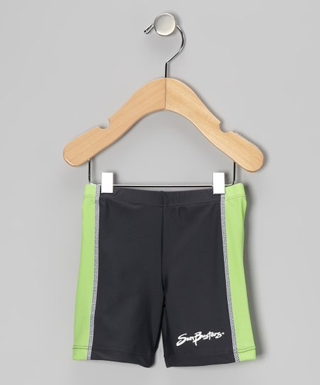 Titanium & Moss Swim Shorts - Infant, Toddler & Boys