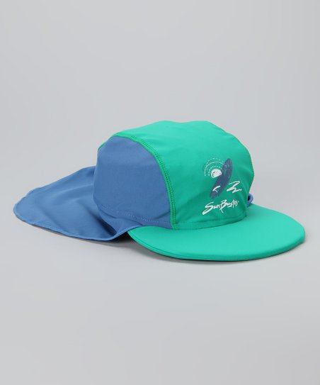 Sea Foam & Caribbean Blue Desert Hat
