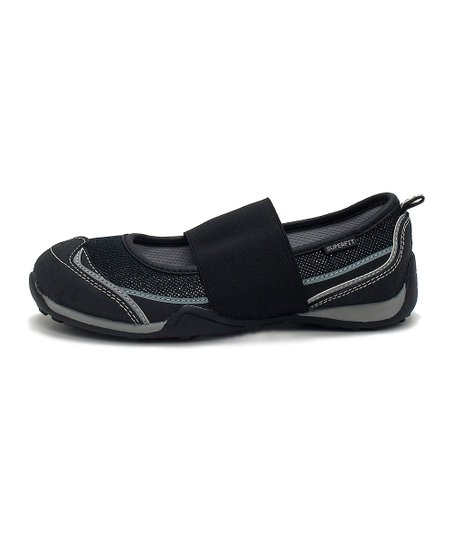 Superfit Black & Gray Hopal Flat