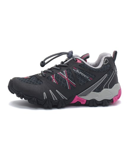 Superfit Charcoal & Hot Pink Kamon Sneaker