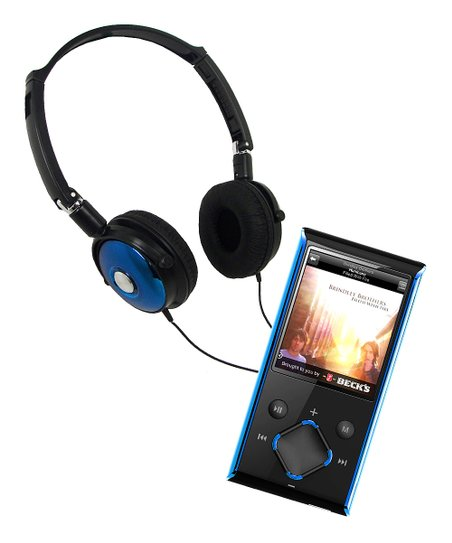 Blue Video Player &amp; Stereo Headphones