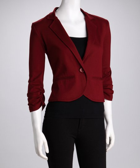 Brick Cropped Blazer