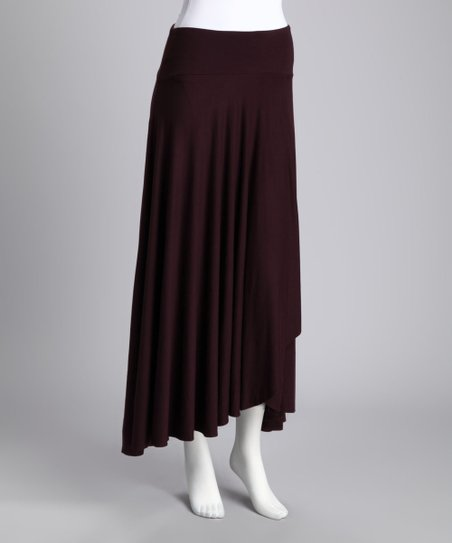 Fig Draped Ruffle Skirt