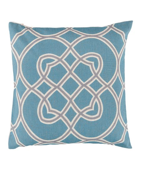 Cameo Blue & Dove Gray Geometric Throw Pillow