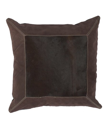 Espresso & Chocolate Leather Pillow