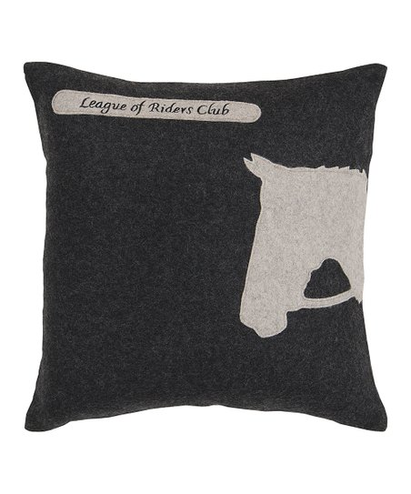 Black &amp; White Horse Pillow