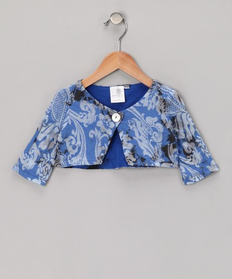 Electrica & Black Organic Bolero - Infant, Toddler & Girls
