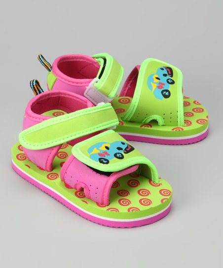 Green & Pink Car Sandal