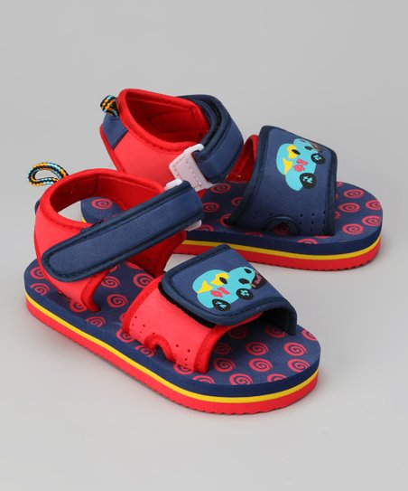 Red & Blue Car Sandal