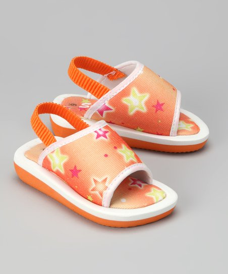 Orange & Yellow Star Sandal