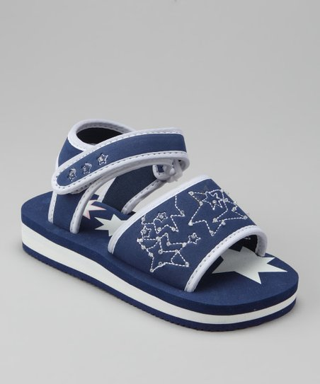 Navy & White Star Sandal