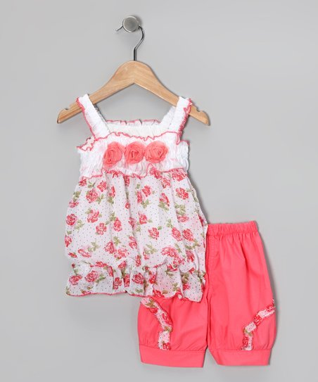 Peach Rose Tunic & Shorts - Toddler & Girls