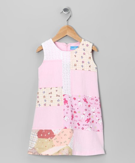 Pink Bunny Patch Dress - Infant, Toddler & Girls
