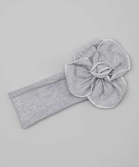 Gray Flower Headband