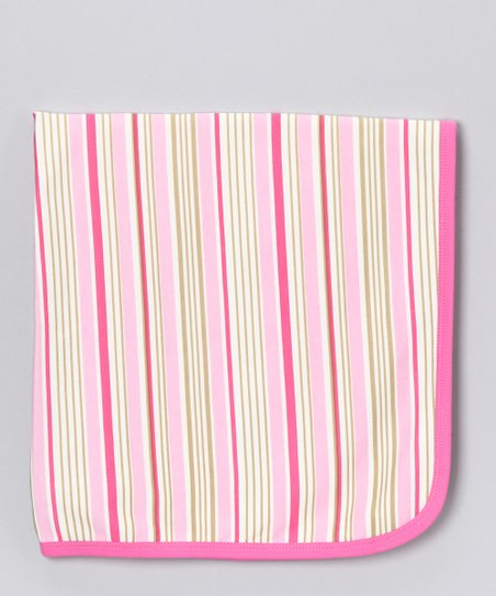 Pink &amp; Cream Stripe Blanket