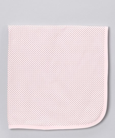 Pink & Brown Polka Dot Blanket