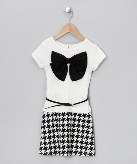 Black &amp; White Bow Dress - Toddler &amp; Girls
