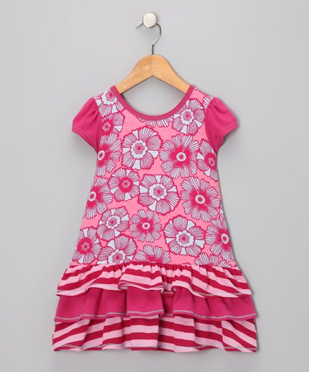 Blue & Pink Charlotte Dress - Infant