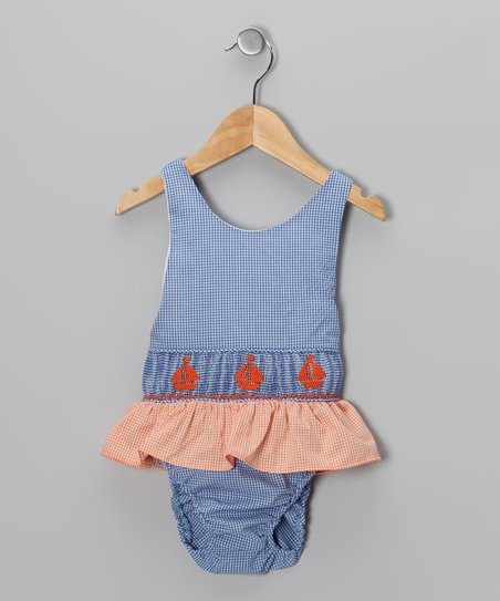 Blue Sailboat Sunsuit - Toddler & Girls