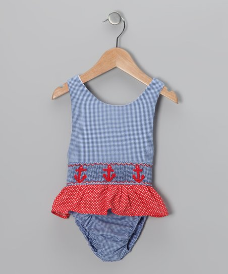 Blue Anchor Sunsuit - Toddler &amp; Girls