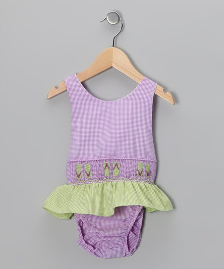 Purple Flip-Flop Sunsuit - Toddler & Girls