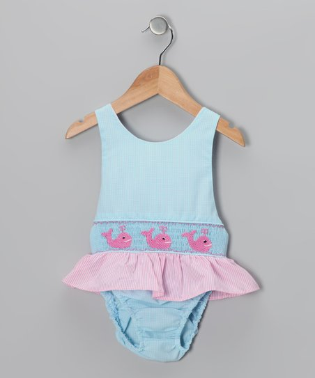 Blue Whale Sunsuit - Girls