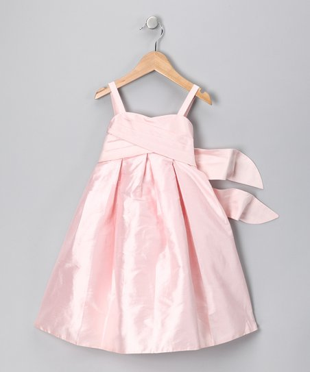 Pink Silk Dress - Toddler & Girls