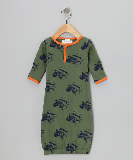 Moab & Orange Jeep Organic Sweetpea Gown - Infant