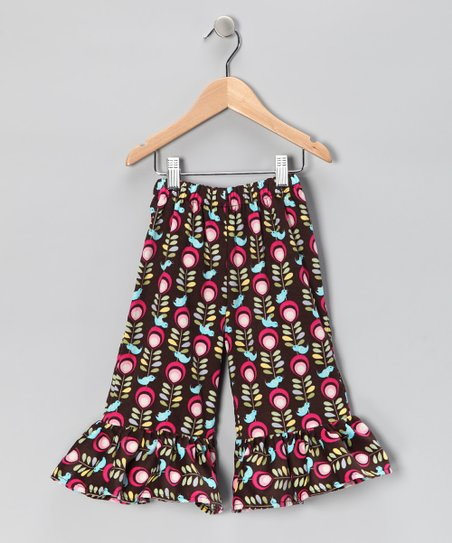 Nordic Bird Corduroy Ruffle Pants - Infant, Toddler & Girls