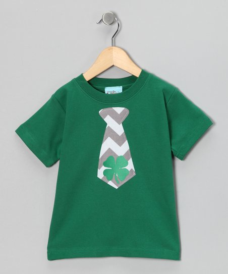 Green Shamrock Tie Tee - Infant, Toddler & Boys
