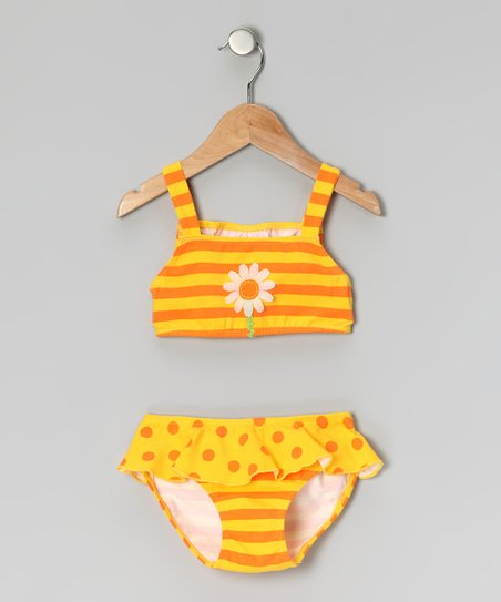 Yellow Daisy Skirted Bikini - Infant & Toddler