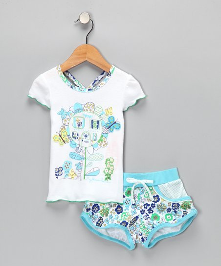 Blue Tee & Shorts - Infant, Toddler & Girls