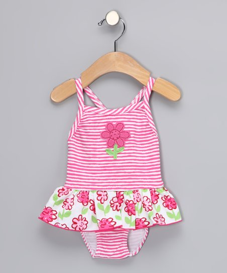 Pink Posy One-Piece - Infant, Toddler & Girls