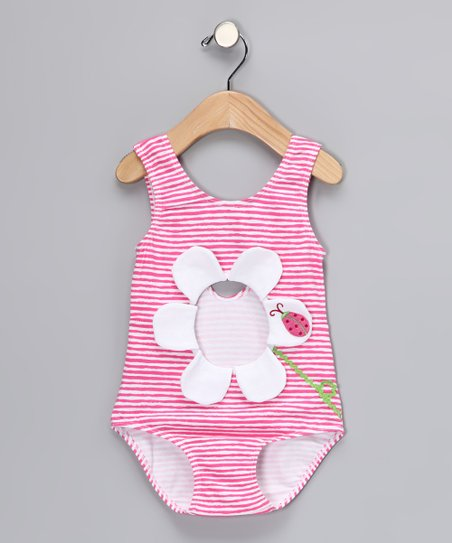 Pink Cutout One-Piece - Infant, Toddler & Girls