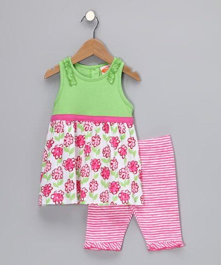 Lime Posy Tunic & Leggings - Toddler