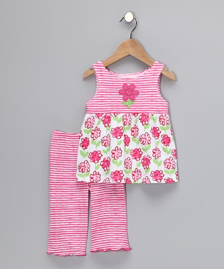 Pink Posy Babydoll Top &amp; Pants - Toddler &amp; Girls