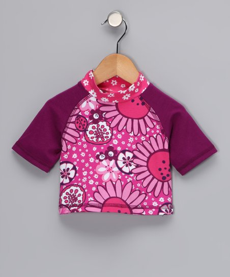 Hot Pink Bloom Rashguard - Infant, Toddler & Girls