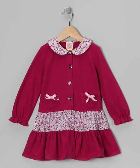 Raspberry Ruffle Pocket Dress - Toddler & Girls
