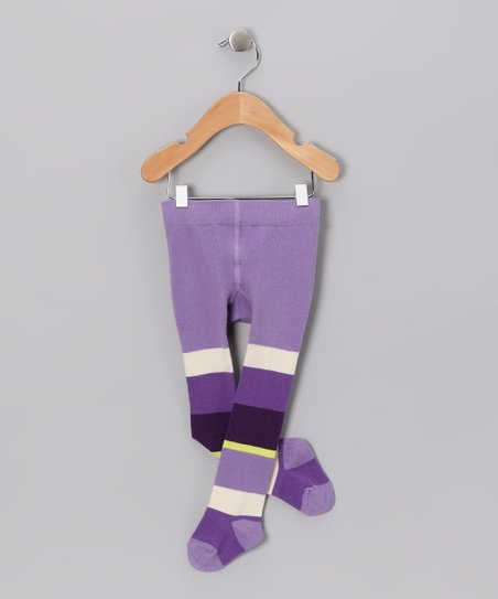Purple Stripe Tights - Toddler & Girls